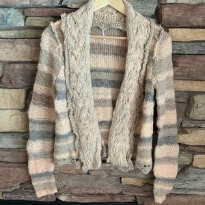 Free People Clasp Striped Sweater Small